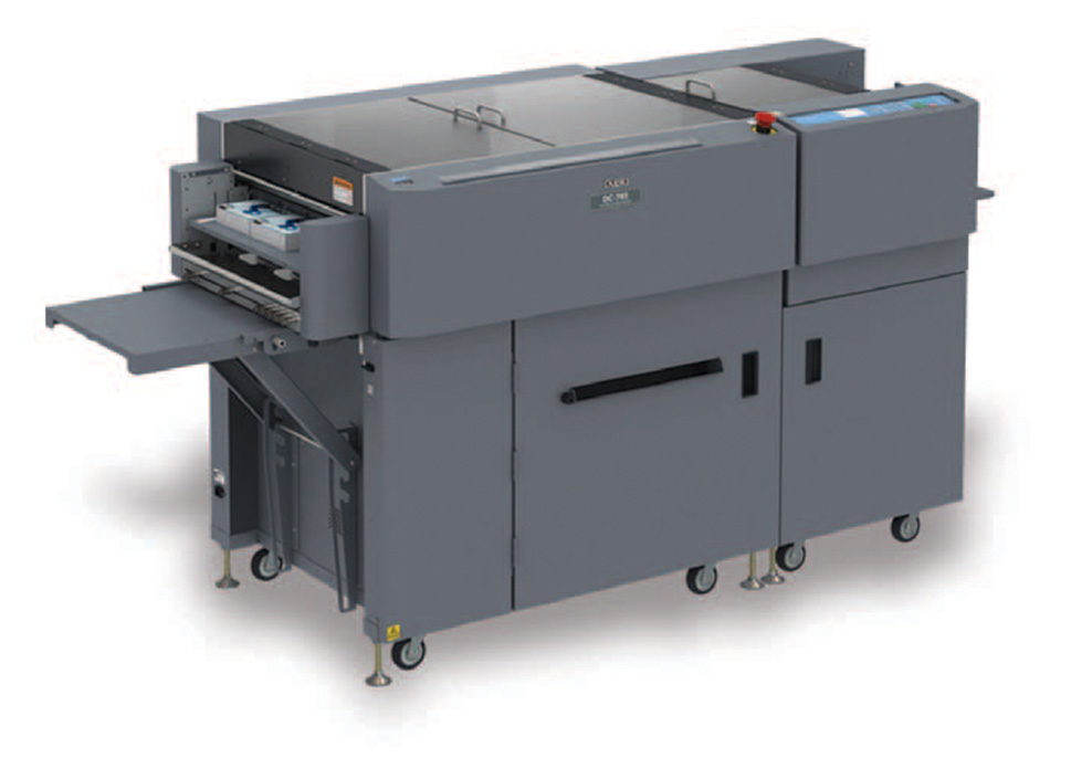 Duplo DC-745 Slitter/Cutter/Creaser, Feeding and Finishing: Xerox