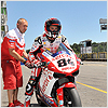 ...after some alterations to his Superbike, Michel is hoping for better results.