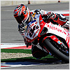 Fabrizio suffered difficulty with the rear of the bike in Race 1, hampering his progress through the field...