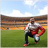 Michel Fabrizio takes time to visit the football stadium whilst in Kyalami...