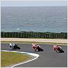 Just like Race 1, Haslam, Fabrizio and Haga take the lead of this race