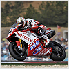 Although Michel held eleventh position from lap 8...