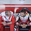 Michel Fabrizio chats tactics with Ernesto Marinelli.