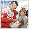 Noriyuki Haga and Michel Fabrizio both took some time out to sign autographs for fans before racing weekend began on the new-look Silverstone track...