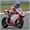 Unfortunately Nori continued to suffer with grip problems on his bike during the Superpole and could not match his team mates speed.