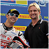 Former Ducati champion Carl Fogarty congratulated Michel on his 3rd place.