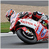 ...however, after being passed on the 8th lap, Michel struggled to match the speed of the top 3 riders and his bike started to suffer with rear traction...