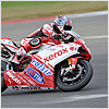 The Ducati rider suffered problems throughout the race and ended race 1 in 14th position.