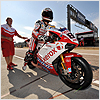 Starting from 10th position Fabrizio knows hes got to push hard here at Valencia for a good result.