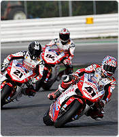 Ducati Xerox riders Noriyuki Haga and Michel Fabrizio, alongside Troy Bayliss, conclude testing at Misano