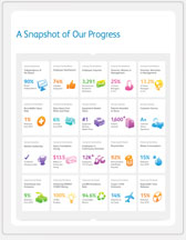 Progress Report Infographics