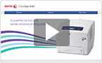 Interactive product demo: experience the ColorQube 8580 at your pace.