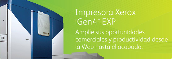 Impresora Xerox iGen4™ EXP - Expand your productivity and business opportunities from web to finish.