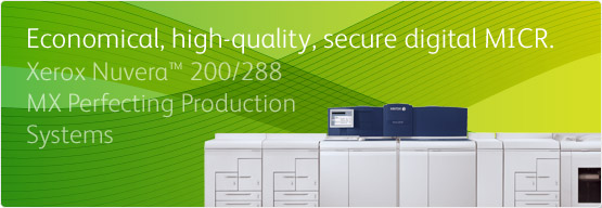 Xerox Nuvera™ 200/288 MX Perfecting Production System - Economical, high quality, secure digital MICR.