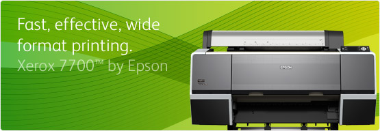 Xerox 7700 by Epson - Fast, effective, wide format printing.